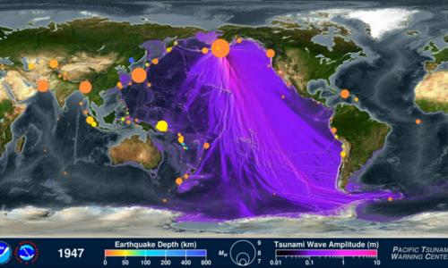 Son 120 Yıl İçinde Gerçekleşen Deprem Ve Tsunamilerin Harita Üzerinde ki Videosu !